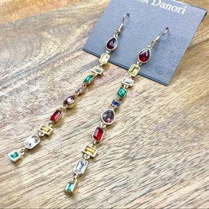Eliot Danori Earrings Drop Dangle Jewel Tone